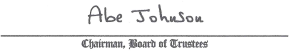 Dr. Abe Johnson (Signature)
